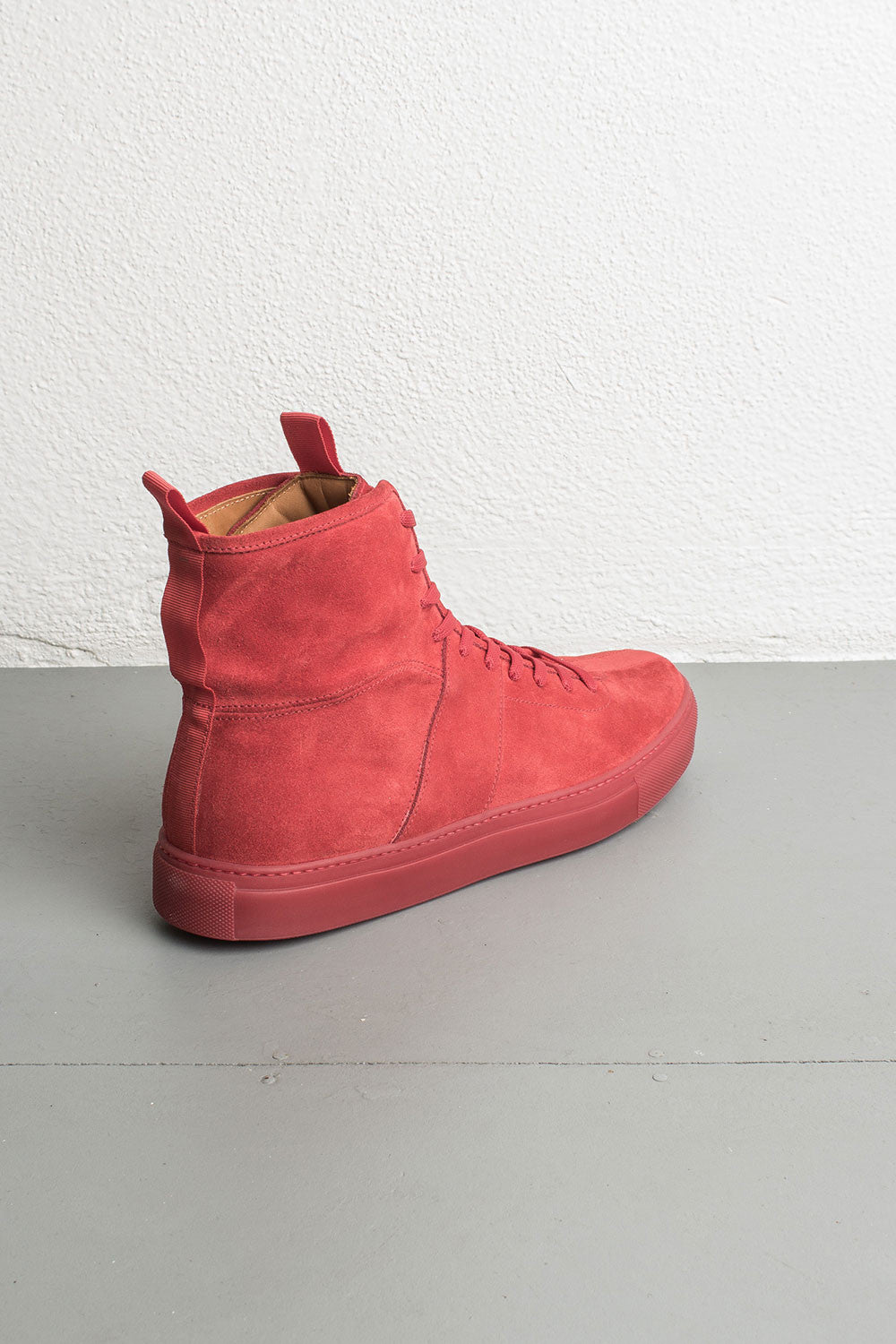 red high top sneakers by daniel patrick
