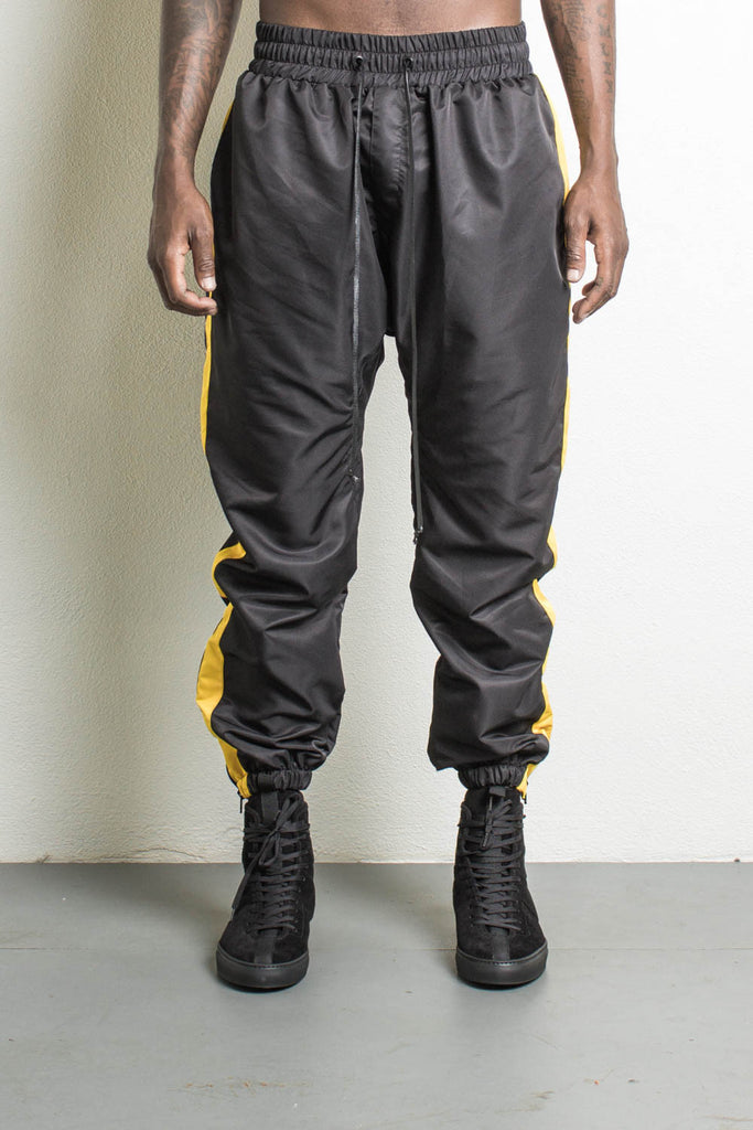 Parachute Pants Black/Yellow