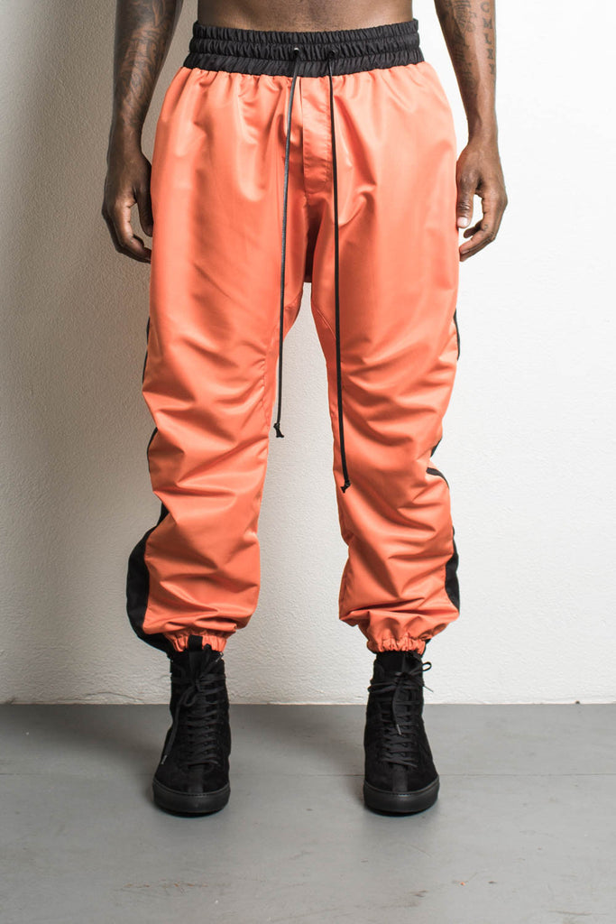 Parachute Pants Orange/Black