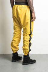 parachute pants in yellow/black by daniel patrick