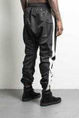 parachute track pants in black/natural by daniel patrick