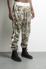 parachute track pant in camo/natural by daniel patrick