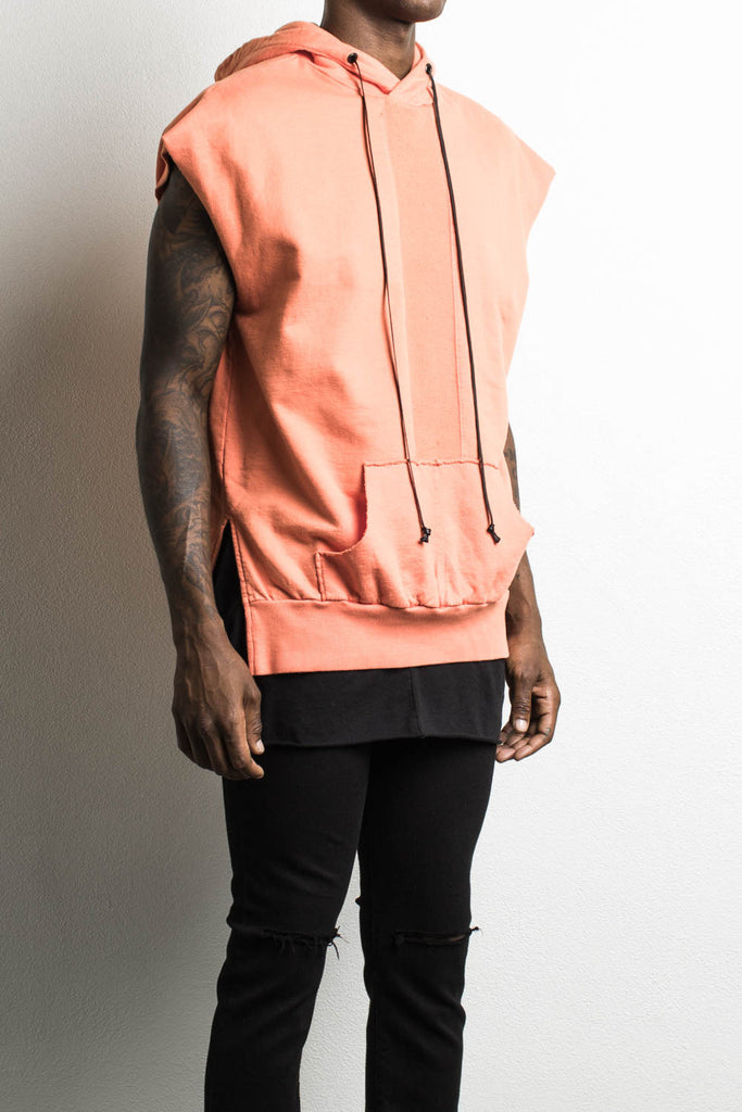 road hood sleeveless in orange by daniel patrick