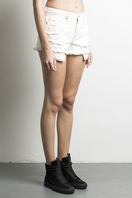 womens high waisted denim shorts in natural by daniel patrick