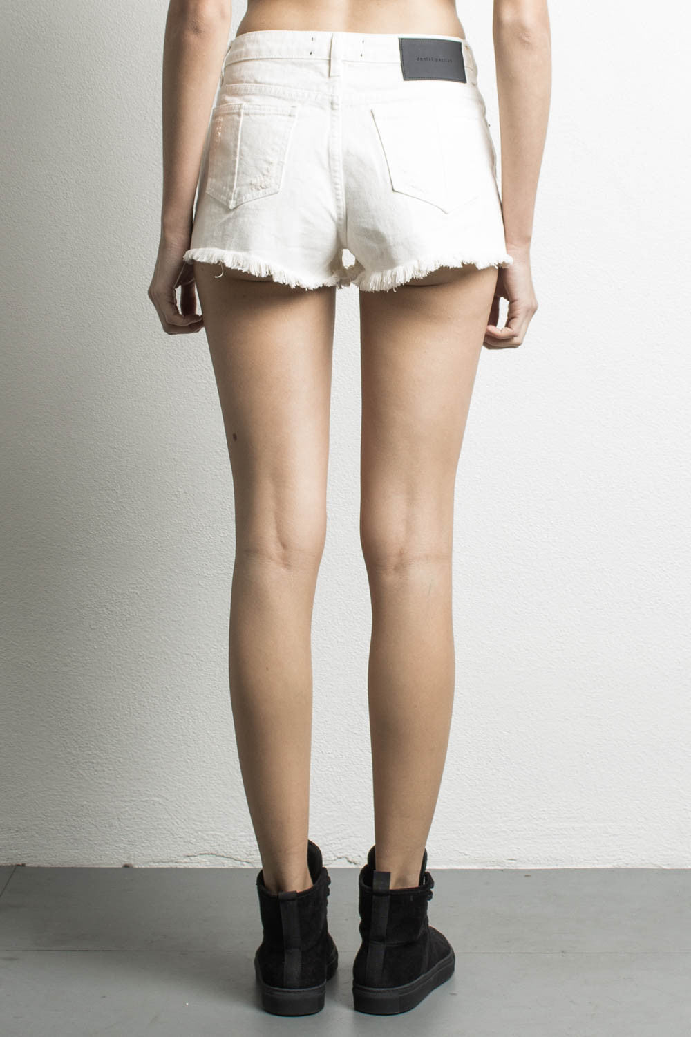 096b6804e9 DANIEL PATRICK | HIGH WAISTED DENIM SHORTS, WHITE - DANIEL PATRICK ...