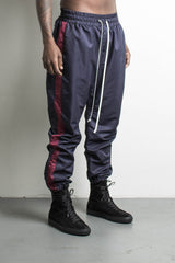 parachute track pant in indigo/maroon by daniel patrick
