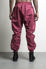 parachute track pant in maroon by daniel patrick