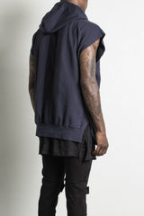 sleeveless hoodie in ink by daniel patrick, alternate image