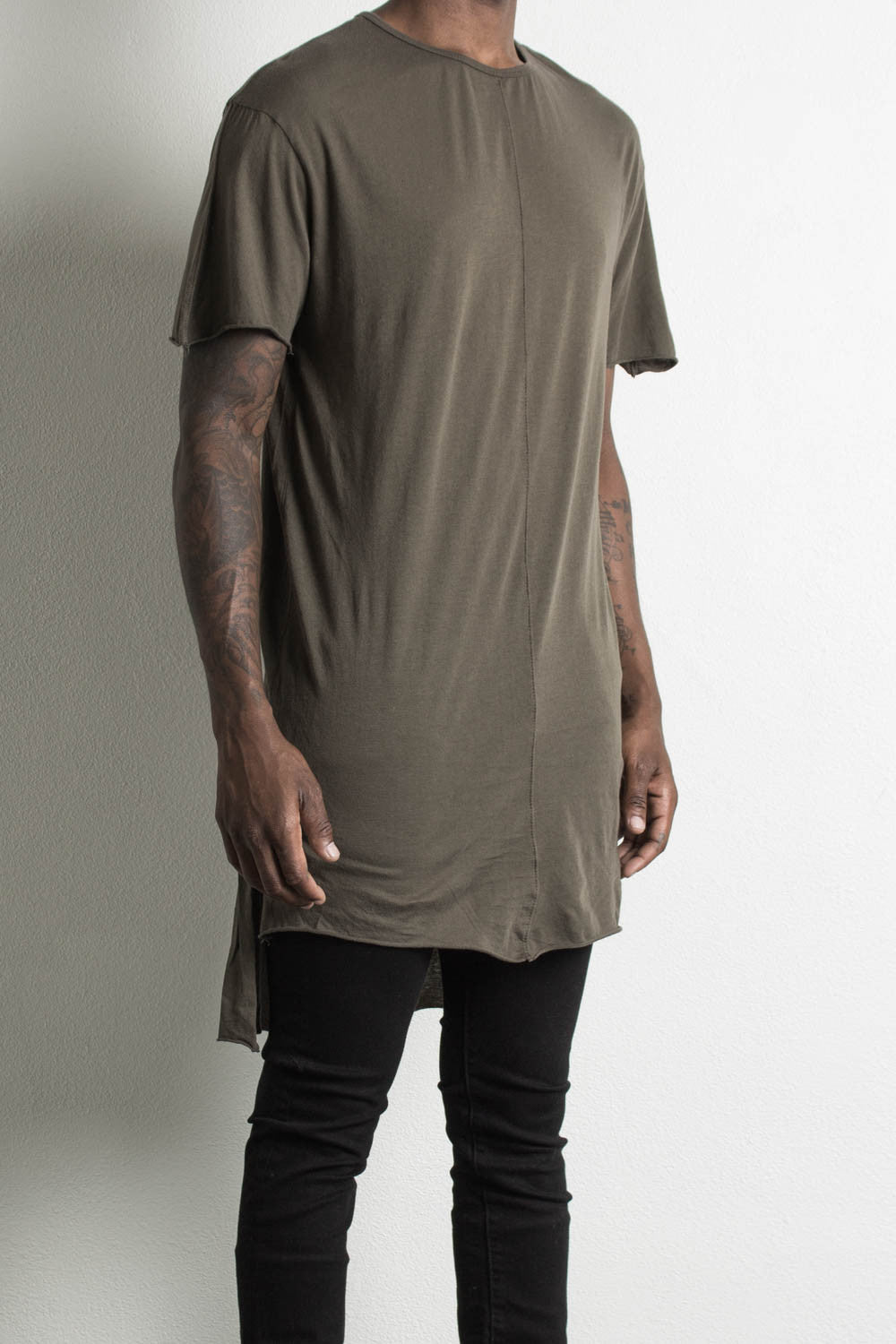 long tail t-shirt by daniel patrick in army