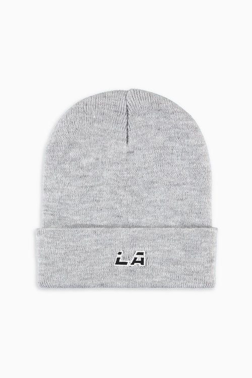 LA starter beanie / heather grey + white + blk