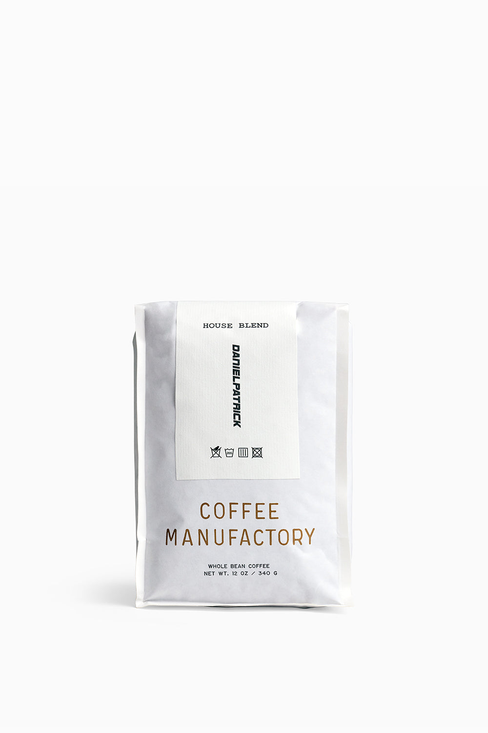 Daniel Patrick x Coffee Manufactory house blend whole bean coffee