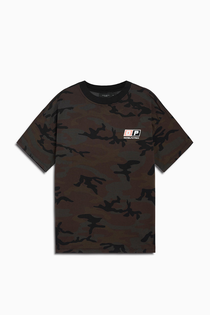motorsport tee in camo/coral by daniel patrick