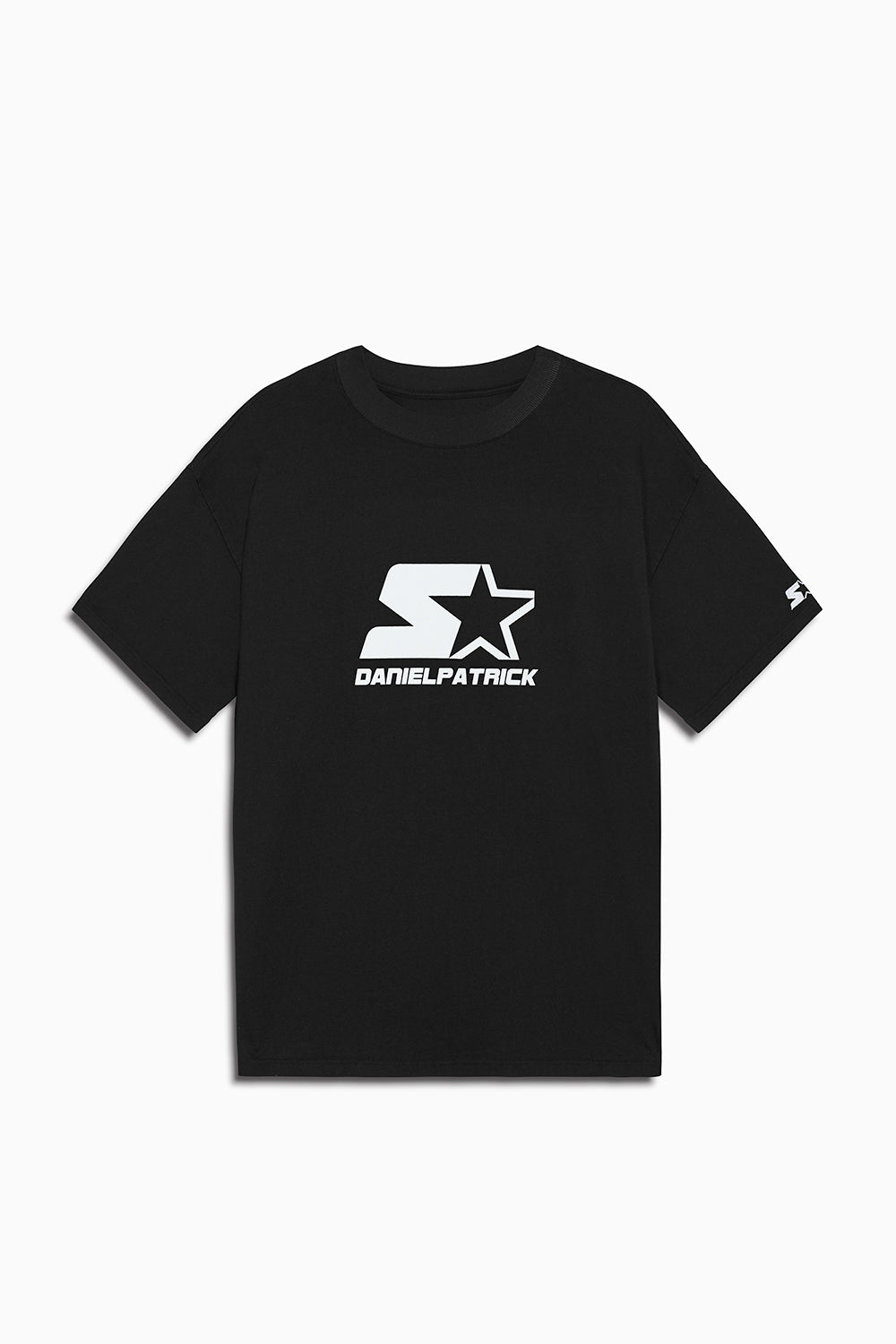 dp starter logo tee in black/white by daniel patrick x starter
