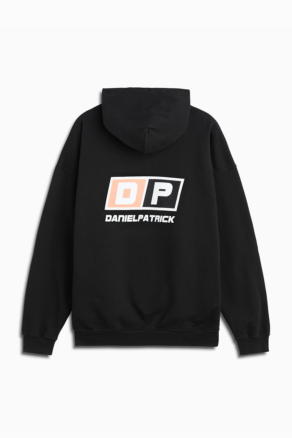 motorsport hoodie in black/coral by daniel patrick