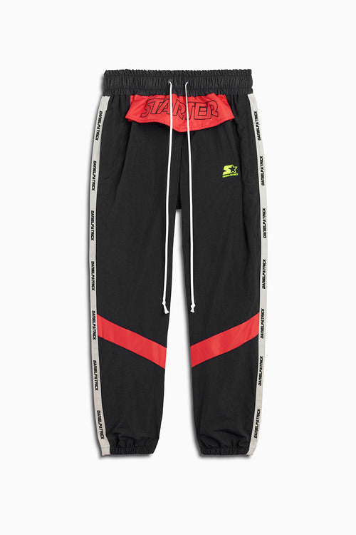 dp starter breakaway track pant in black/red/ivory by daniel patrick x starter