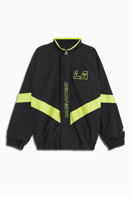 dp starter LA team jacket in black/citrus lime by daniel patrick x starter