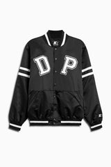 DP satin starter jacket in black/white by daniel patrick x starter