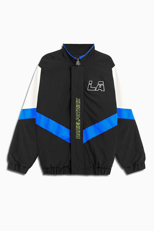 dp starter LA team jacket / black + cobalt + ivory