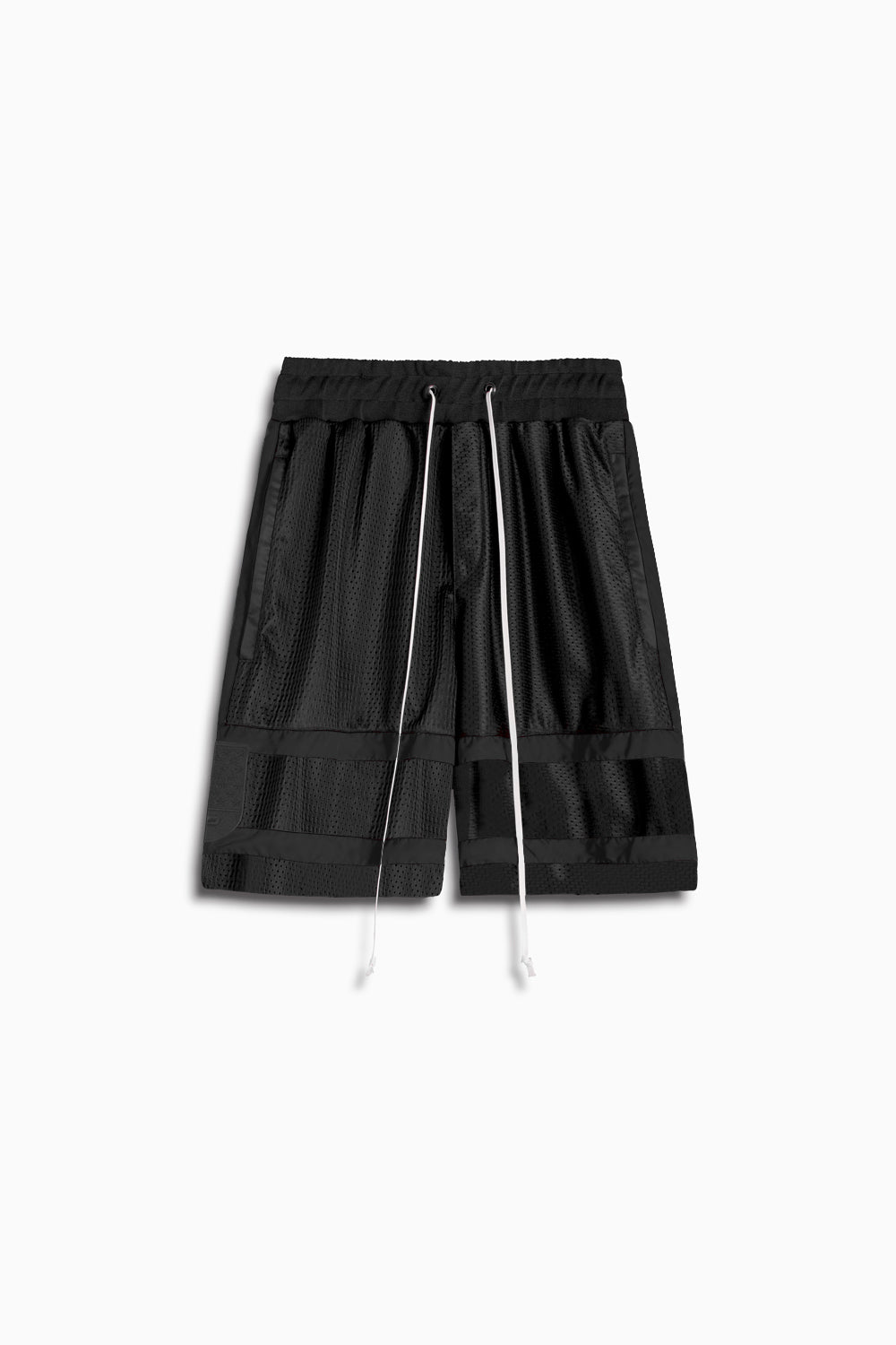 5.5 gym short in black/black by daniel patrick
