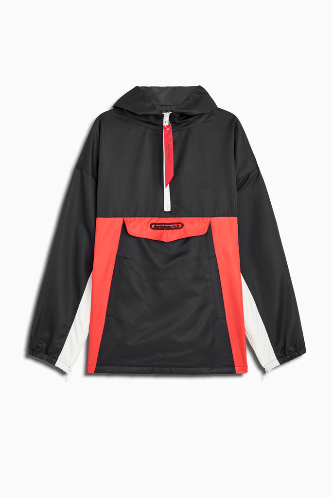anorak windbreaker in black/red/ivory by daniel patrick