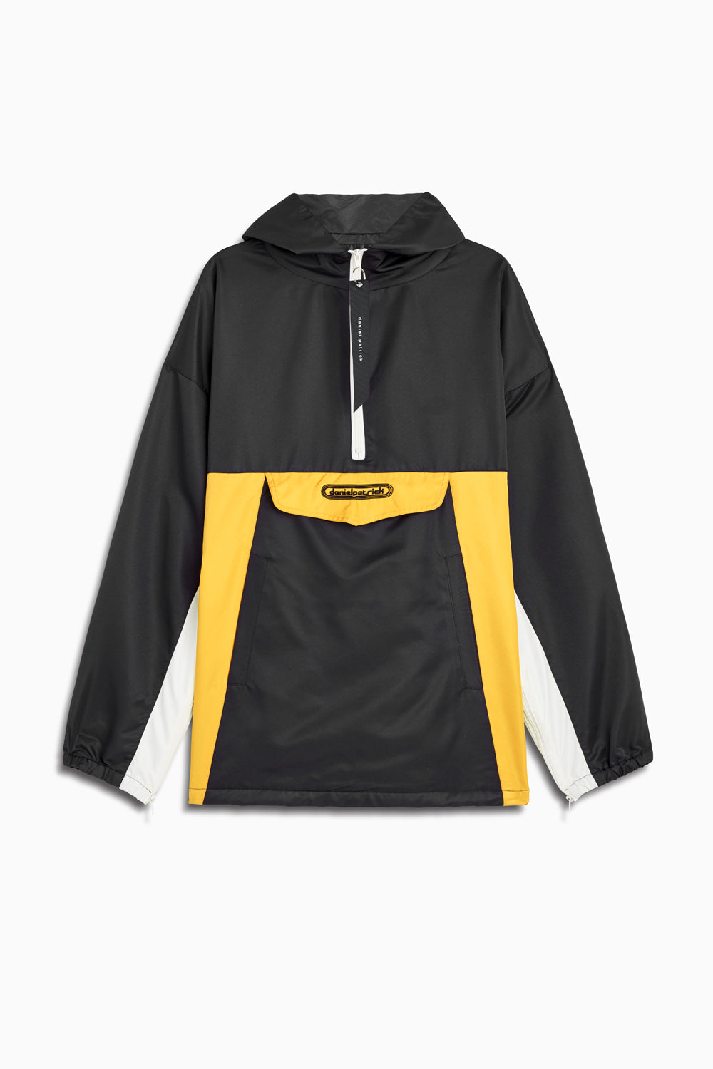 anorak windbreaker in black/yellow/ivory by daniel patrick