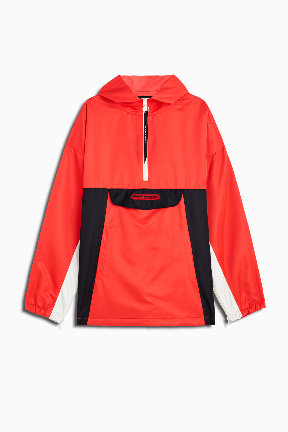 anorak windbreaker in red/black/ivory by daniel patrick