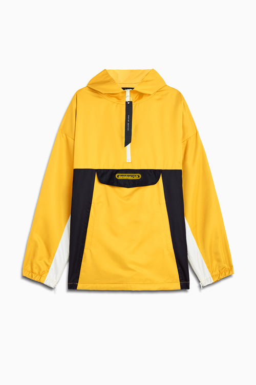 anorak windbreaker in yellow/black/ivory by daniel patrick