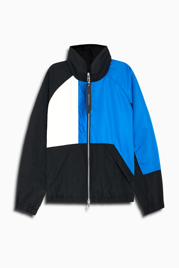 93 jacket in black/ivory/cobalt by daniel patrick