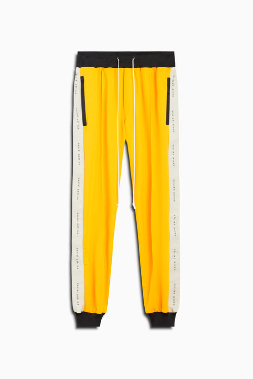 slim track pant in yellow/ivory by daniel patrick
