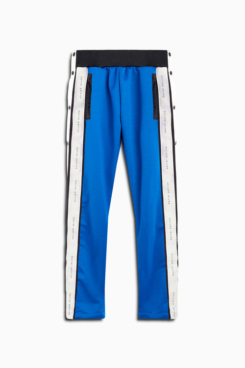 snap track pant in cobalt/black/ivory by daniel patrick