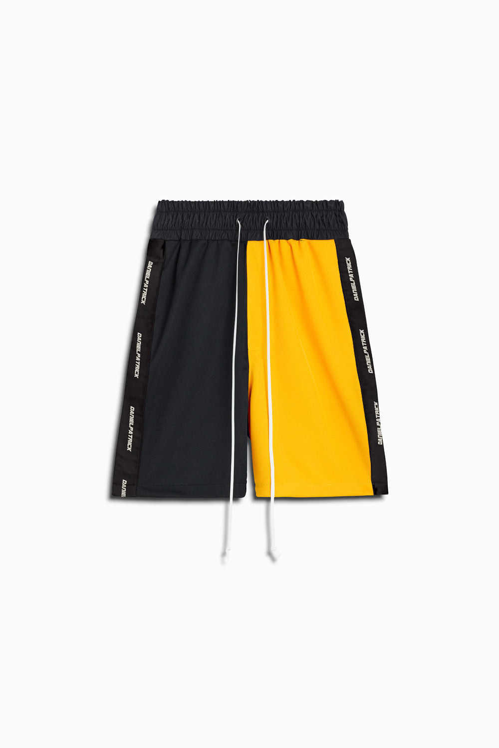50/50 gym short in black/yellow by daniel patrick