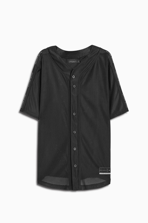 mesh baseball jersey in black by daniel patrick