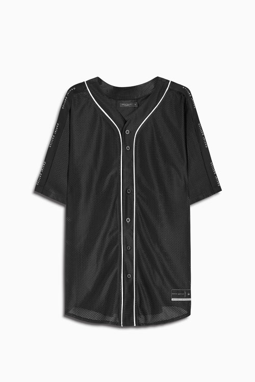 mesh baseball jersey in black/natural by daniel patrick