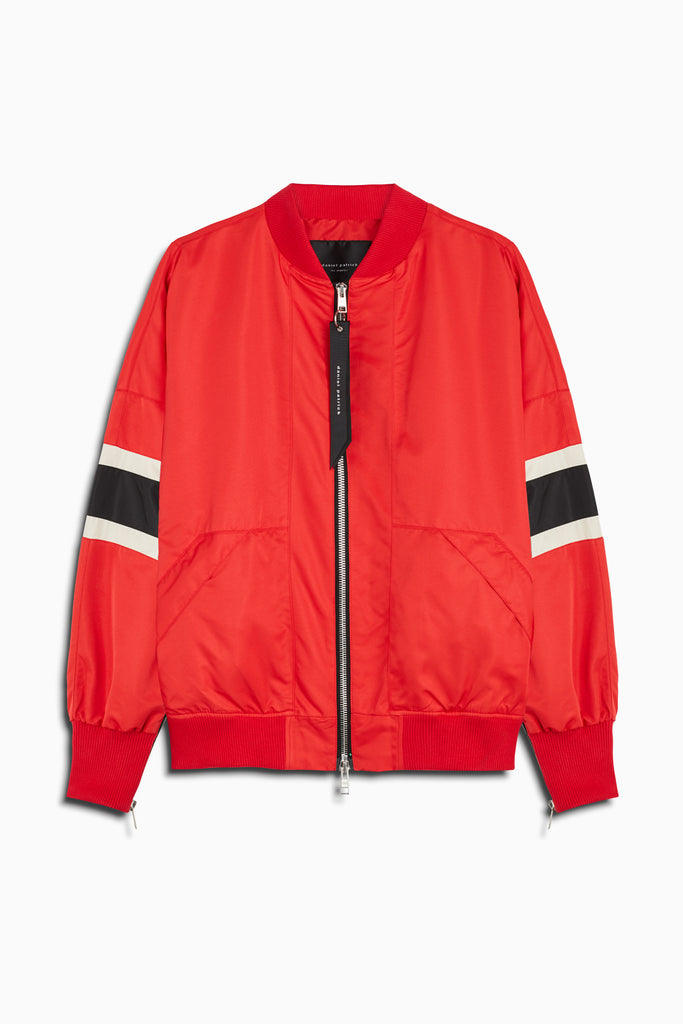 bomber 5.5 jacket in red/black/ivory by daniel patrick