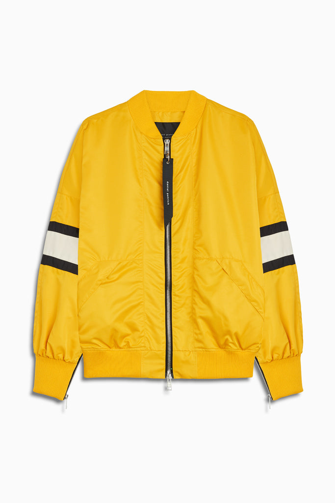 bomber 5.5 jacket in yellow/ivory/black by daniel patrick