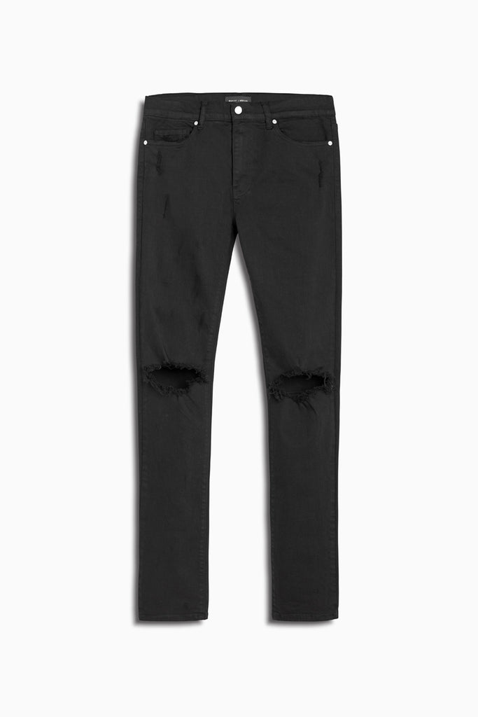 classic ripped skinny jean ii in black by daniel patrick
