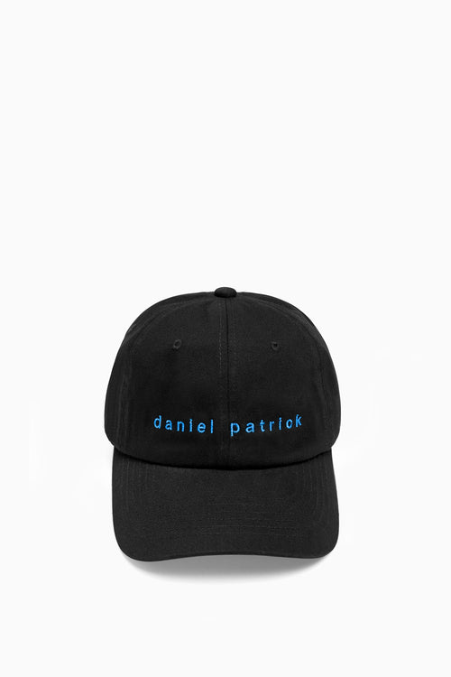 dp dad cap in black/cobalt by daniel patrick
