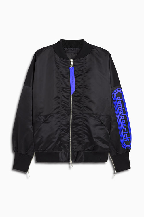 dp retro bomber / black + cobalt