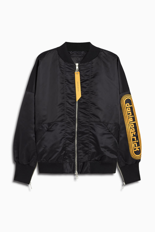 dp retro bomber / black + yellow