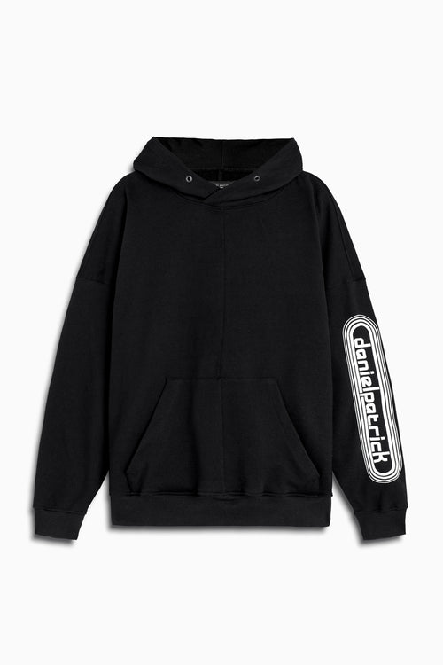 dp retro hoodie in black/natural by daniel patrick