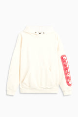 dp retro hoodie in natural/red by daniel patrick