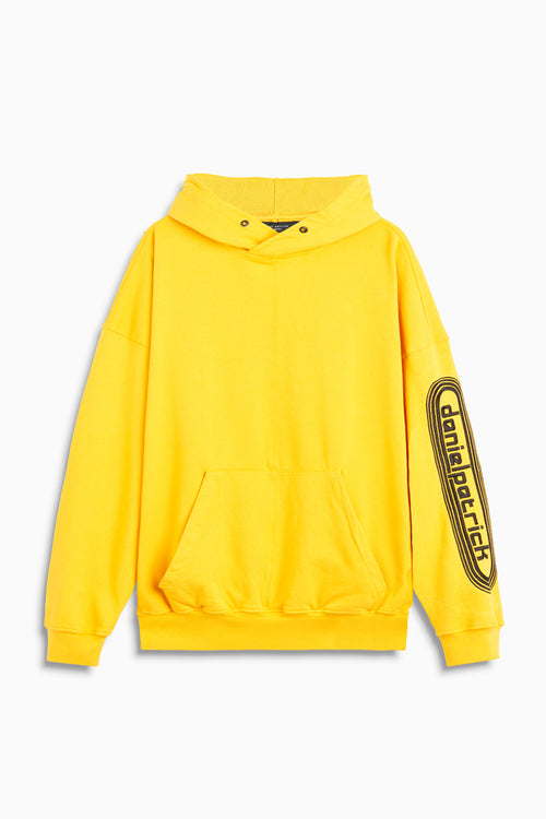 dp retro hoodie in yellow/black by daniel patrick