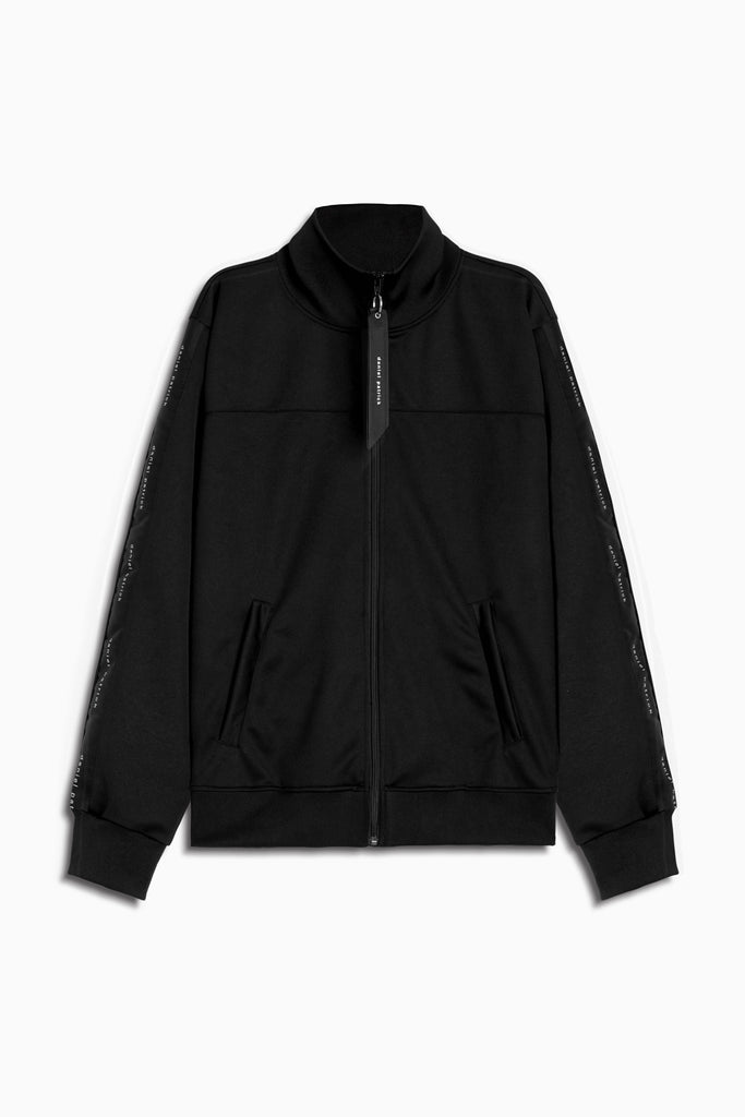 slim track jacket in black/black by daniel patrick