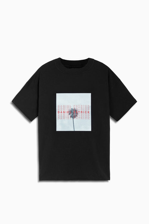 LA palm tee in black by daniel patrick
