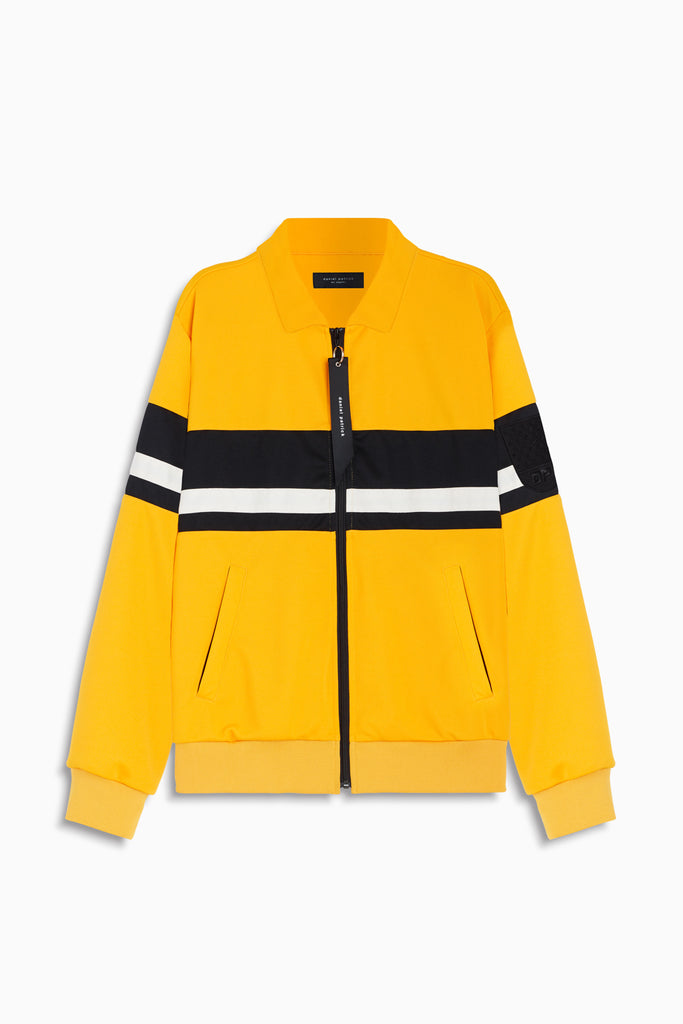 LA track jacket in yellow/black/ivory by daniel patrick