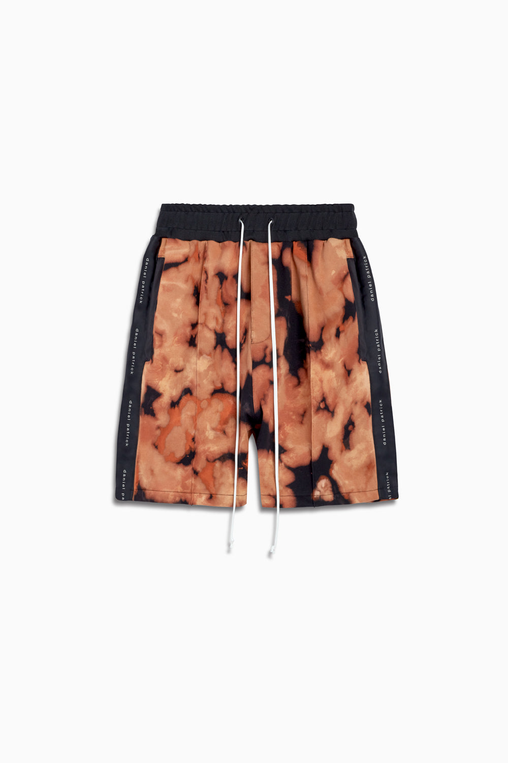 fleece gym short ii in orange acid/black by daniel patrick