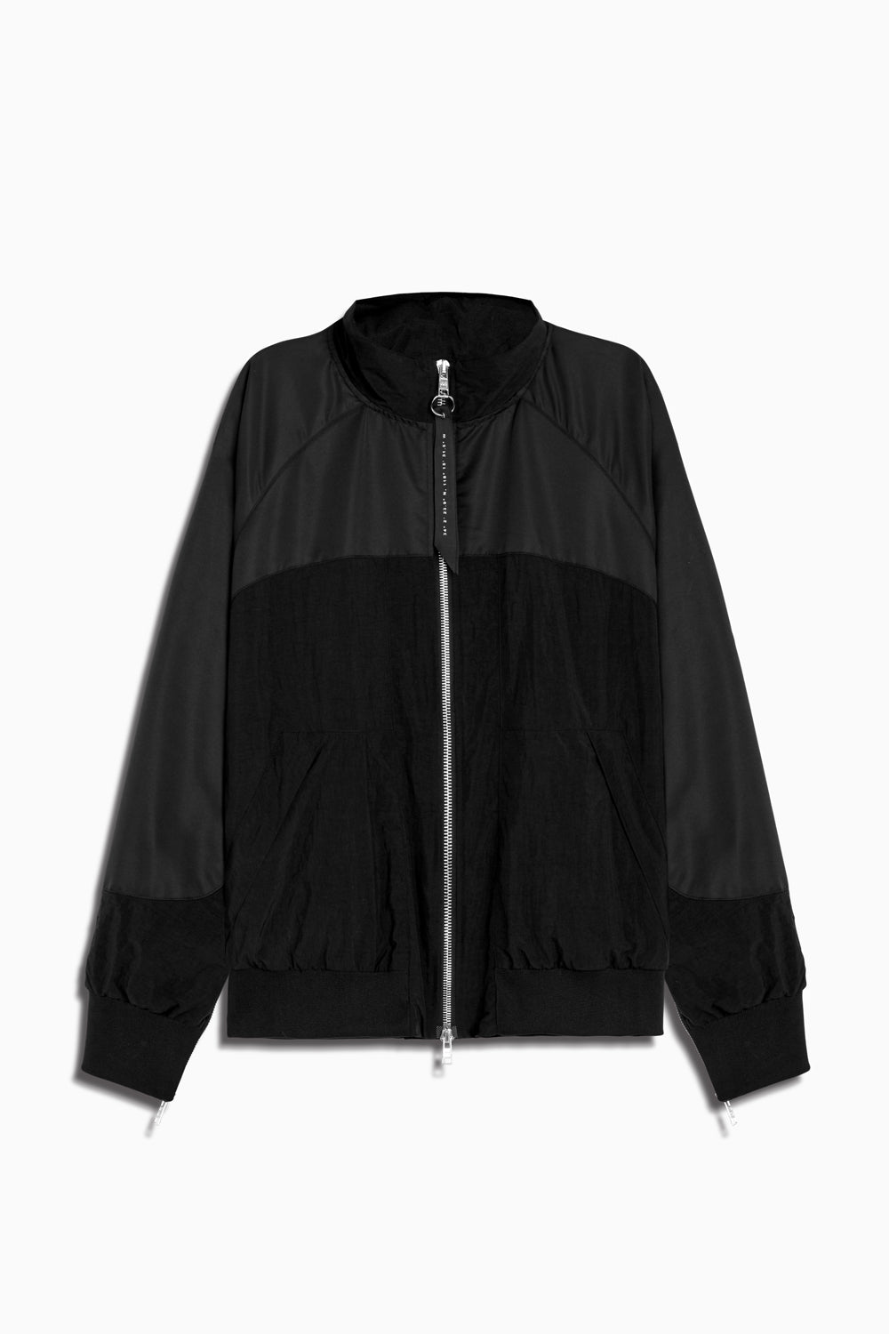 bomber 7 jacket in black/black by daniel patrick