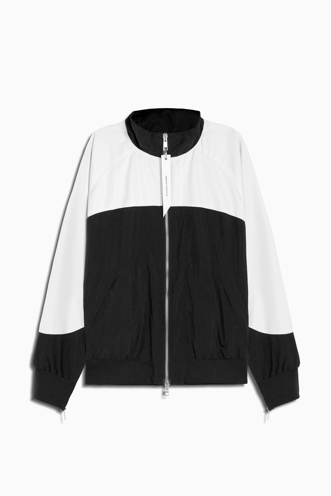 bomber 7 jacket in black/ivory by daniel patrick