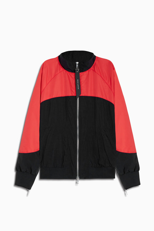 bomber 7 jacket in black/red by daniel patrick