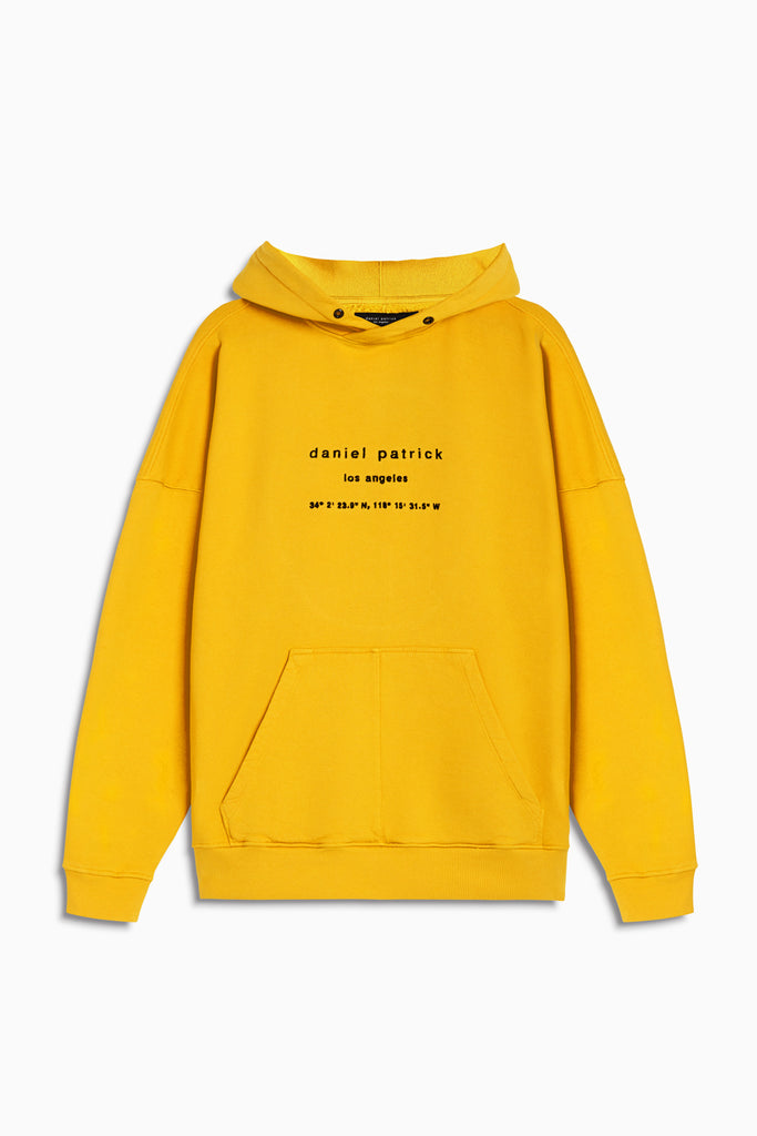 heavy hoodie LA in yellow by daniel patrick